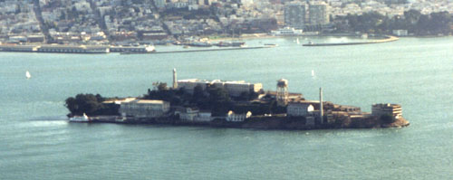 Prisoners are 'simply bowled over' by the view at their new home, Alcatraz.